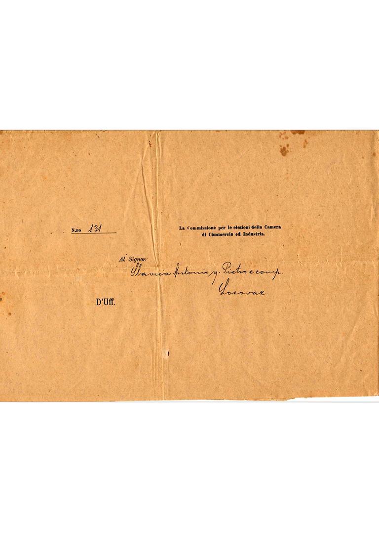 Iskaznica Trgovačko Obrtničke Komore u Zadru - 1906